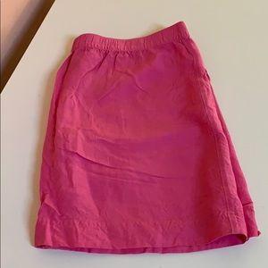 Merona Hot Pink Linen Midi Skirt